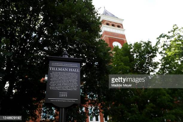 View of Tillman Hall on the campus of Clemson University on June 10, 2020 in Clemson, South Carolina. The campus remains open in a limited capacity...