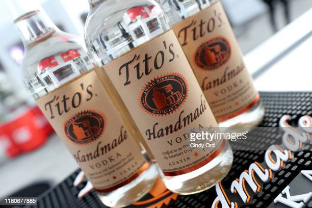 A view of Tito's Vodka on display as Titans of BBQ presented by National Beef and Pat LaFrieda Meats hosted by Dario Cecchini Pat LaFrieda and...