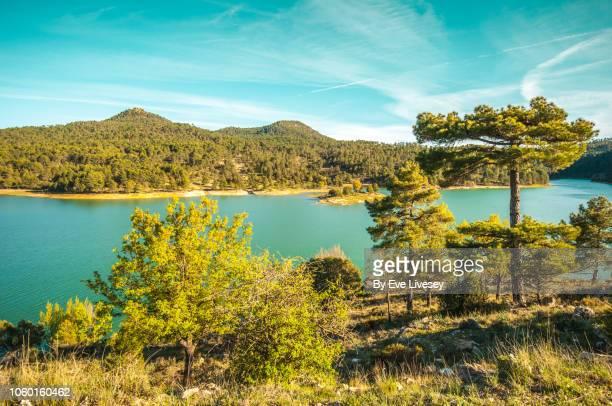 view of toba reservoir - cuenca provincia de cuenca fotografías e imágenes de stock