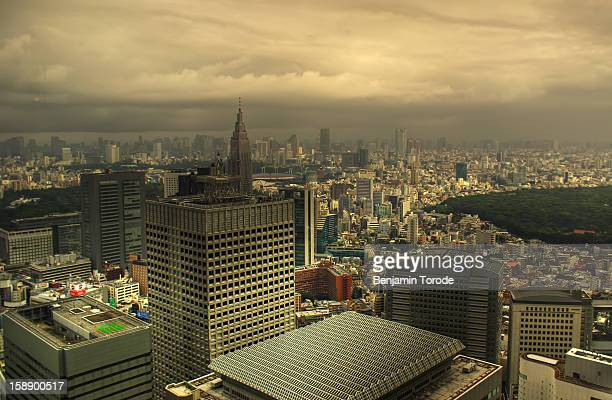 View of Tokyo in overcast weather