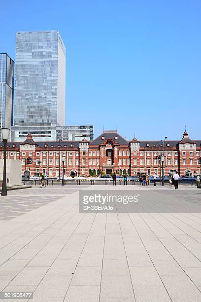 view of tokyo, japan - tokyo station stock photos and pictures