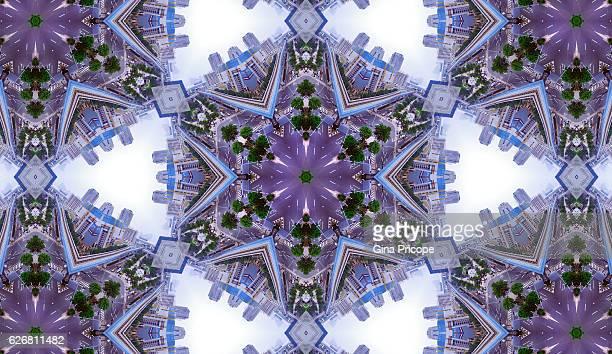 View of Tokyo, Kaleidoscope effect.