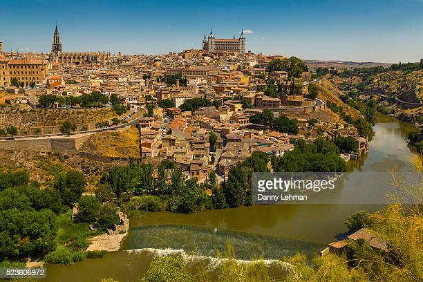 view of toledo, spain - toledo spain stock pictures, royalty-free photos & images
