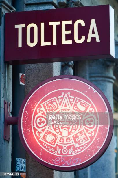 A view of Tolteca Mexican Style Grill logo in Dublin's city center On Friday March 24 in Dublin Ireland
