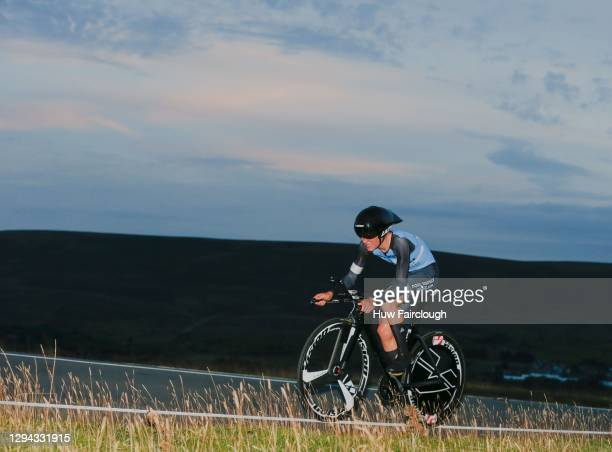 View of Tom Pidcock of PH-MAS Olfield/Paul Milnes Cycles during the individual time trial of Stage 1 of The SD Sealants Junior Tour of Wales on...