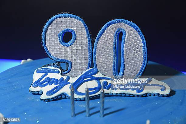 A view of Tony Bennett's birthday cake during the 10th Annual Exploring The Arts Gala at Radio City Music Hall on September 15 2016 in New York City