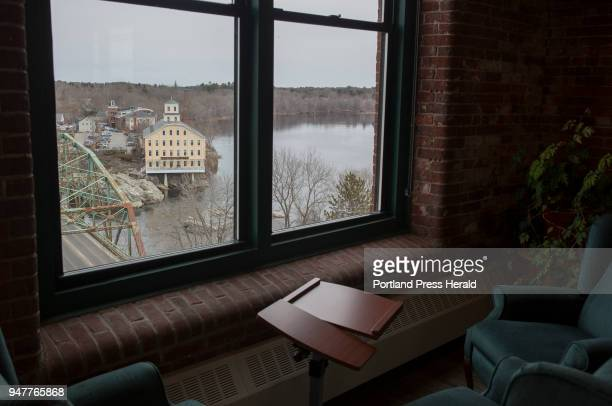 A view of Topsham from the Nature Conservancy's office in Brunswick The company completely overhauled their office space in Fort Andross making it as...