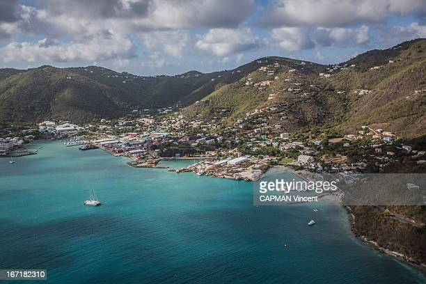 view of Torotola the main Island of the archipelago of the British Virgin Island in the Caribbean in April 14 2013