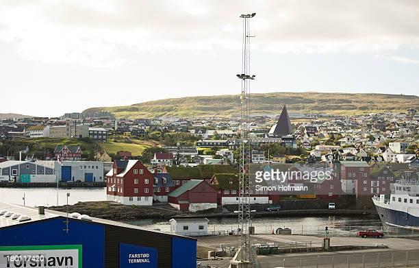 View of Torshavn harbour on September 7, 2013 in Torshavn, Faroe Islands.