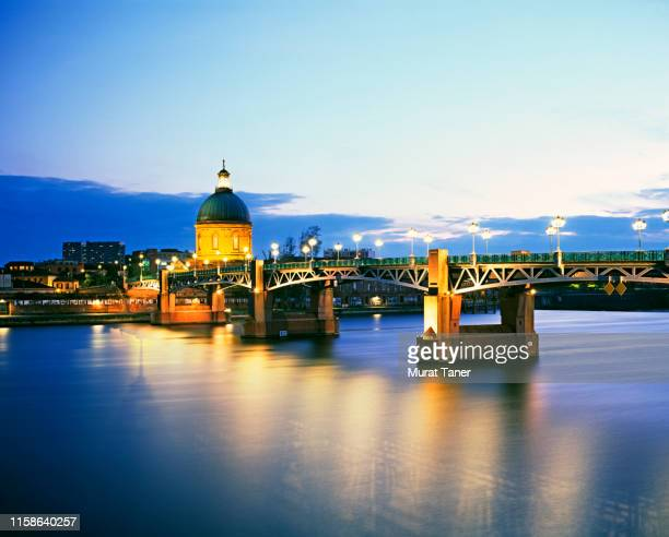 view of toulouse on garonne river - toulouse stock pictures, royalty-free photos & images