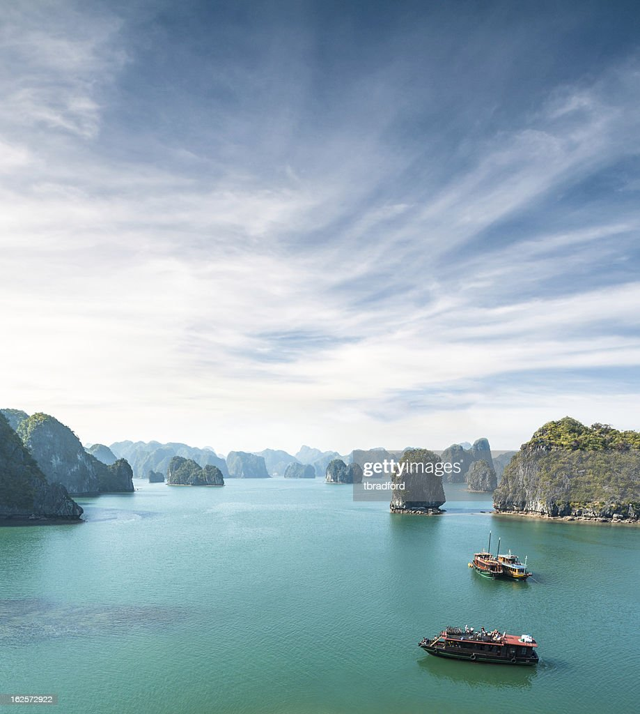 View Of Tourist Boats In Halong Bay, Vietnam : Stock Photo