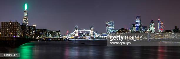 View of Tower Bridge and City,  London, England, UK