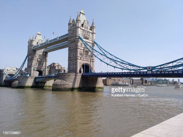 view of towerbridge over river - hermes stock pictures, royalty-free photos & images