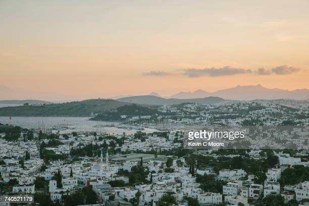 View of town, Bodrum, Mugla, Turkey