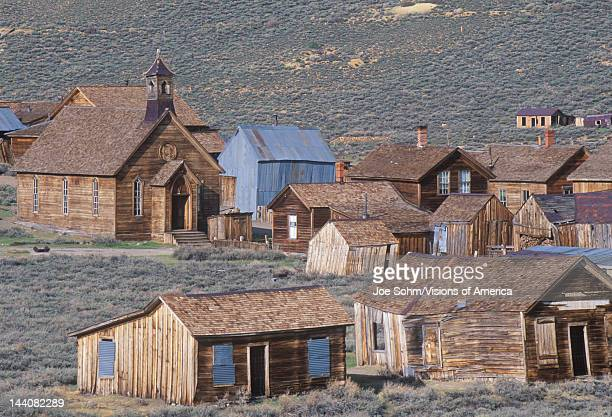 View of town of Bodie California Ghost town