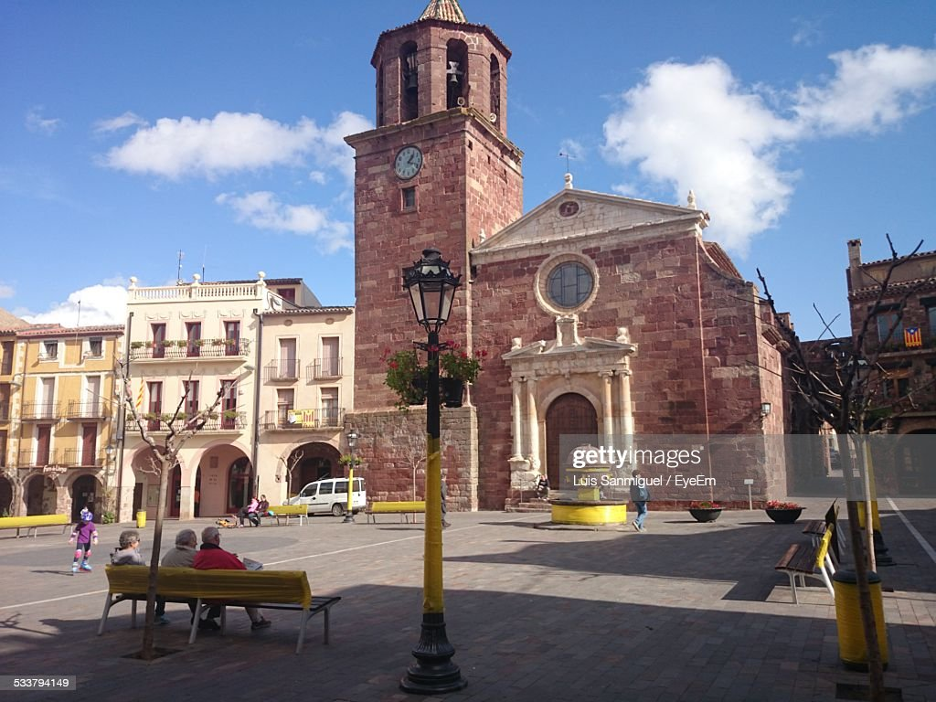 View Of Town Square : Foto stock