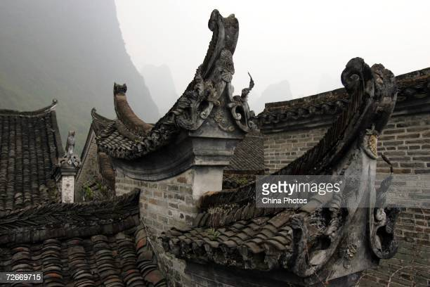 A view of traditional architectural detail in the ancient township of Xingping is seen on November 17 2006 in Yangshuo County of Guilin Guangxi...