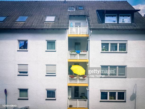 View of traditional city centre apartment block in Berlin Germany