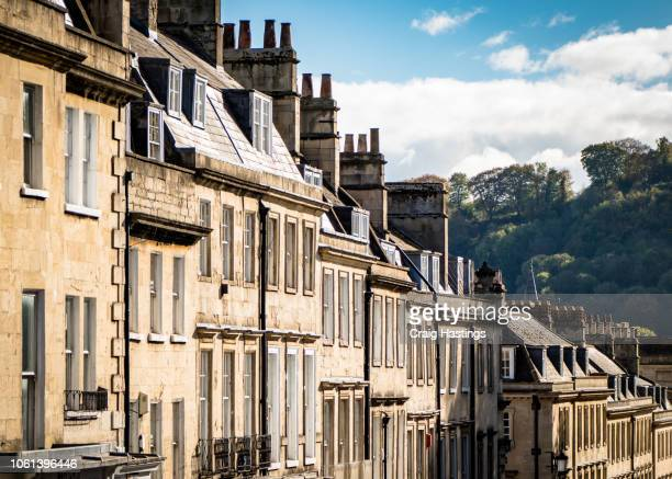 View of Traditional Georgian Houses in Bath England