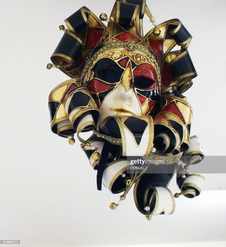 View Of Traditional Venice Carnival Mask On Display : Stock Photo