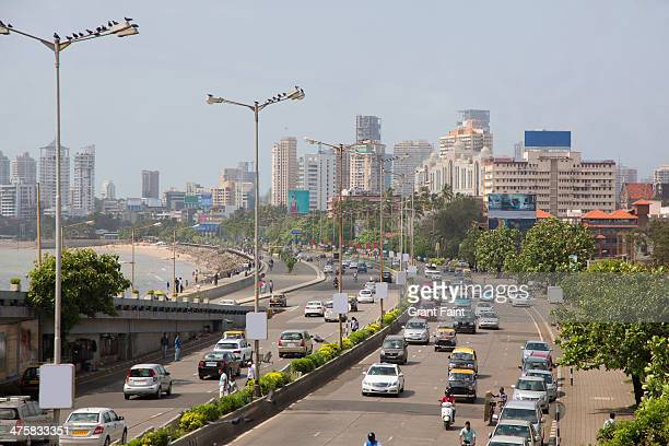 view of traffic along roadway - maharashtra stock pictures, royalty-free photos & images