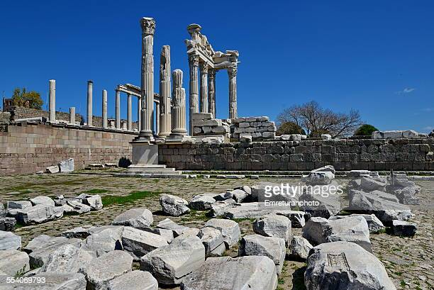 view of traianus temple from west - emreturanphoto stock pictures, royalty-free photos & images
