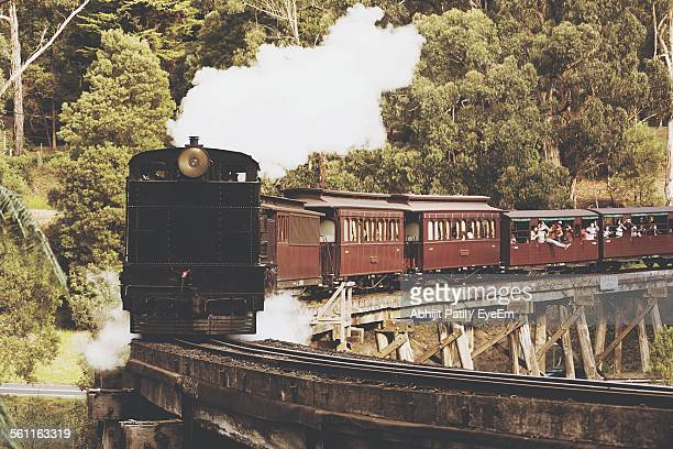 View Of Train Against Trees