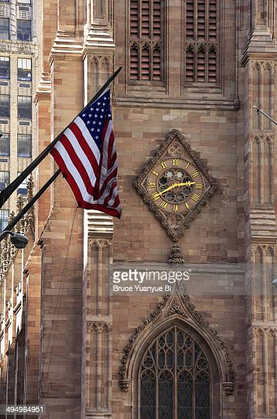 View of Trinity Church from Wall Street