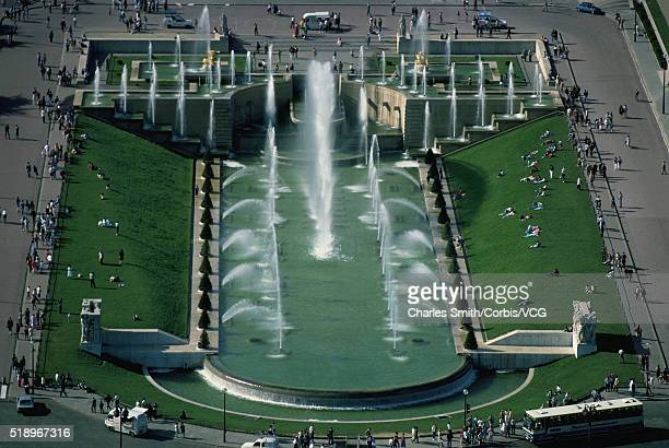 View of Trocadero Fountains from the Eiffel Tower