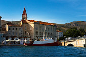 View of Trogir from the marina, Trogir, Croatia