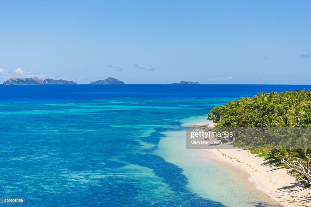 View of tropical Fijian islands : Stock Photo