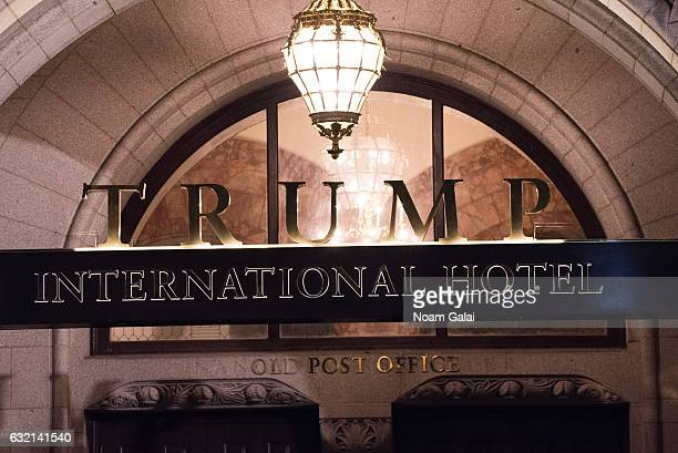 A view of Trump International Hotel Washington DC one day before the inaguration of Donald Trump January 19 2017 in Washington DC Hundreds of...