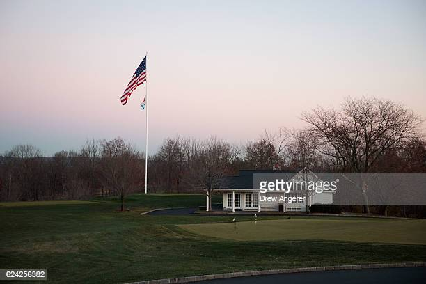 View of Trump National Golf Club prior to the arrival of president-elect Donald Trump's motorcade, where president-elect Trump is scheduled to have...