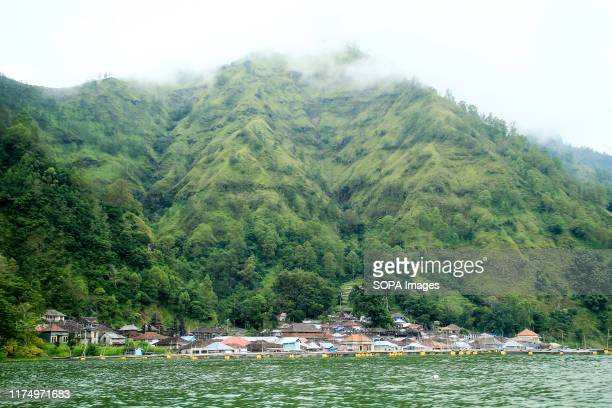 View of Trunyan Village located on the shores of Lake Batur Trunyan is a village located in Kintamani District Bangli Regency Bali Indonesia This...