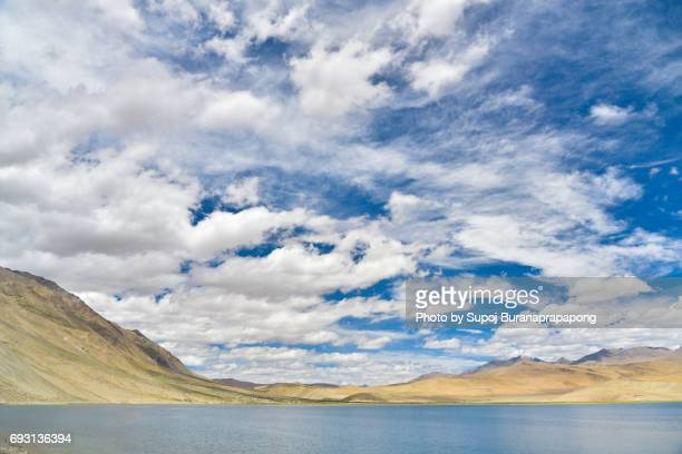 A view of Tso Moriri (lake Moriri) in the Himalayas mountain range in Ladakh, India.