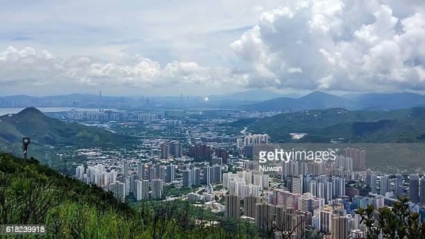 View of Tuen Mun from Castle Peak in Hong Kong