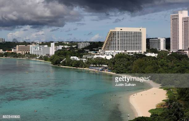 A view of Tumon Bay on August 16 2017 in Tamuning Guam The American territory of Guam remains on high alert as a showdown between the US and North...