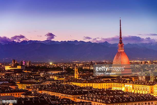 view of turin - turin stock pictures, royalty-free photos & images