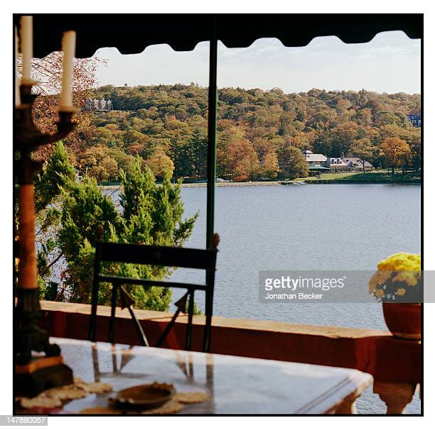 View of Tuxedo lake is photographed for Town & Country Magazine on September 8, 2011 in Tuxedo Park, New York.