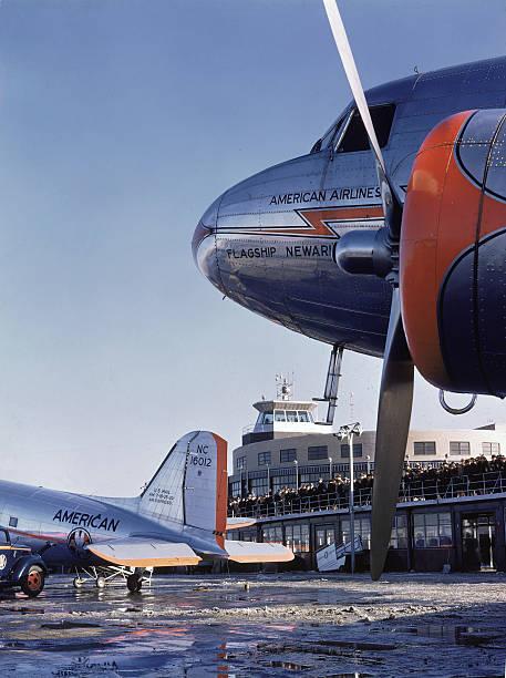 DC-3 Aircraft At LaGuardia Wall Art