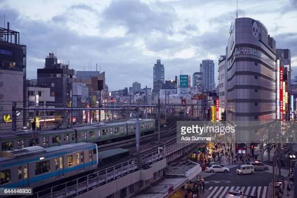 view of Ueno station and Ameyoko