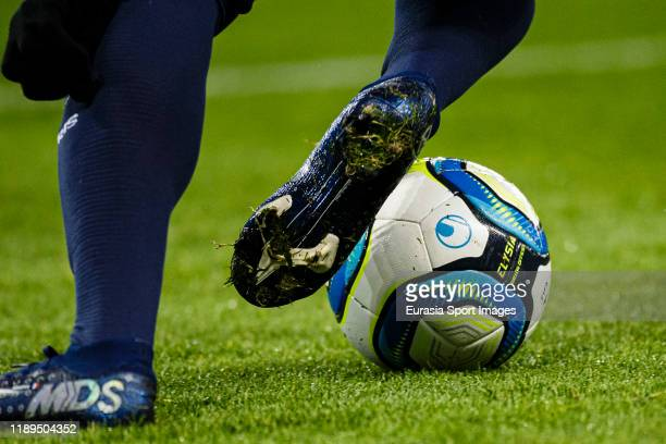 View of Uhlsport Elysia Hexagon, the official match ball of Ligue 1 2019/2020 during the Ligue 1 match between Paris Saint-Germain and Lille OSC at...