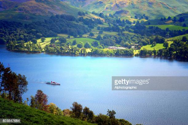 weergave van ullswater - lake district stockfoto's en -beelden
