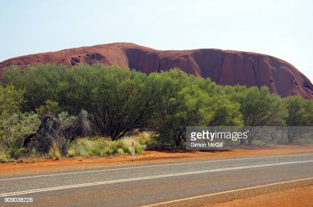 View of Uluru from Liru Walk, Uluru-Kata Tjuta National Park, Northern Territory, Australia