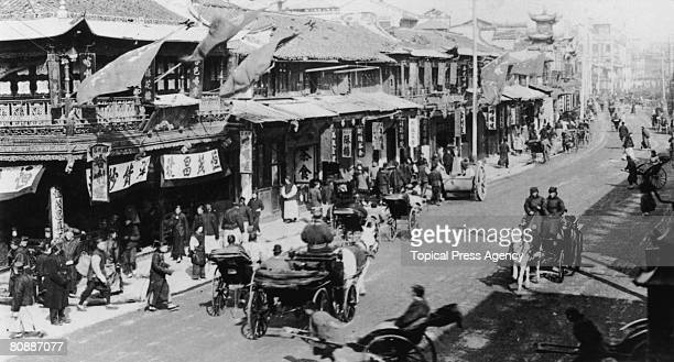 A view of Upper Nanking Road in Shanghai China 5th June 1925
