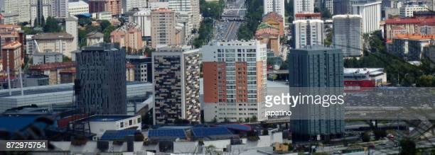 View of urban center of La Coruña  city