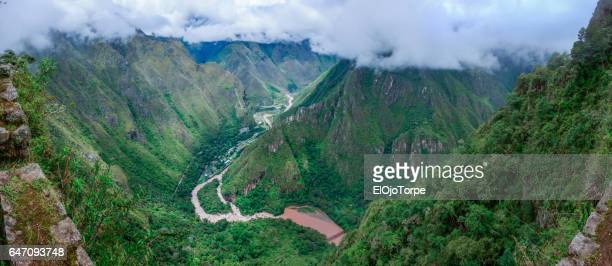 View of Urubamba river from Inca trail, near Machu Picchu, Perú