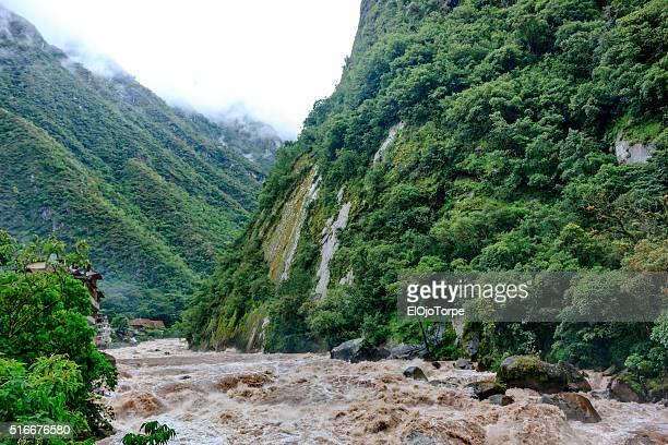 View of Urubamba river, in Aguas Calientes, near Machu Picchi, Peru
