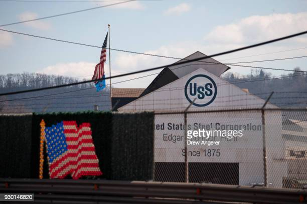 A view of US Steel Edgar Thomson Steel Works March 10 2018 in Braddock Pennsylvania On Thursday President Donald Trump signed an order to impose new...