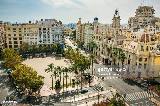 view of valencia city - valencia spanien stock-fotos und bilder